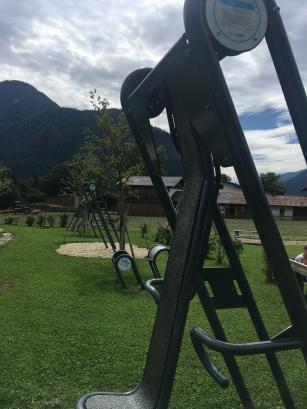 Fittnesgeräte am Spielplatz, Münster, Tirol, what to do with children, entertainment with children in austria